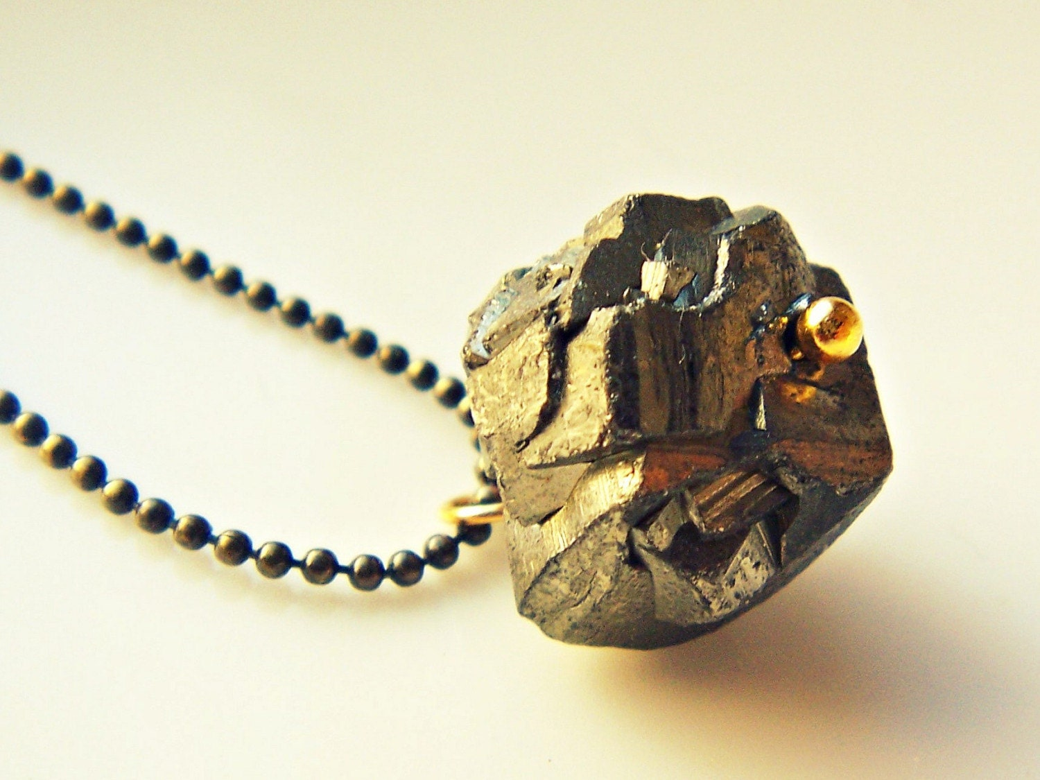 The Rogue Fool's Gold / Pyrite Nugget Necklace by Palomina on Etsy from etsy.com