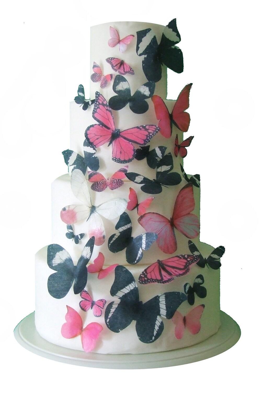 Edible Cake Pictures Uk : Birthday Cake, Sweet 16 - The Sophia 30 Edible Butterflies ...