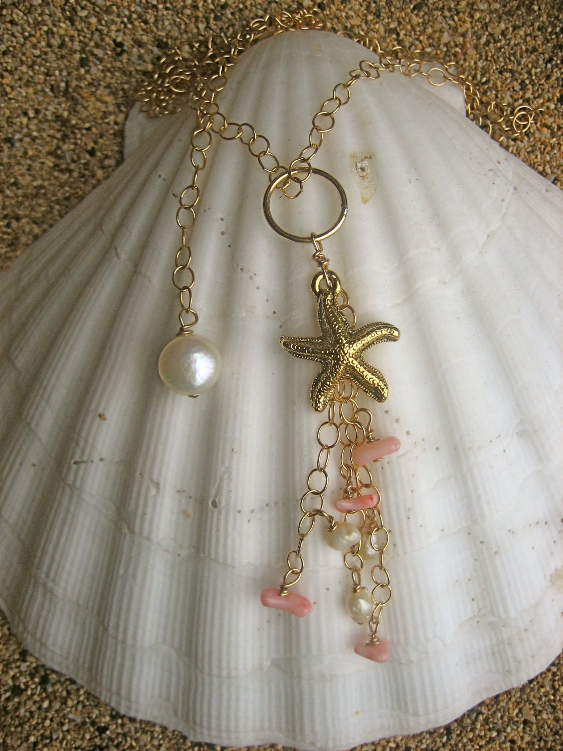 gold-starfish-pink-coral-pearl-necklace