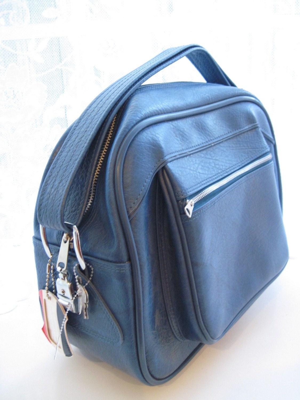 70s American Tourister Cornflower Blue Overnight Bag
