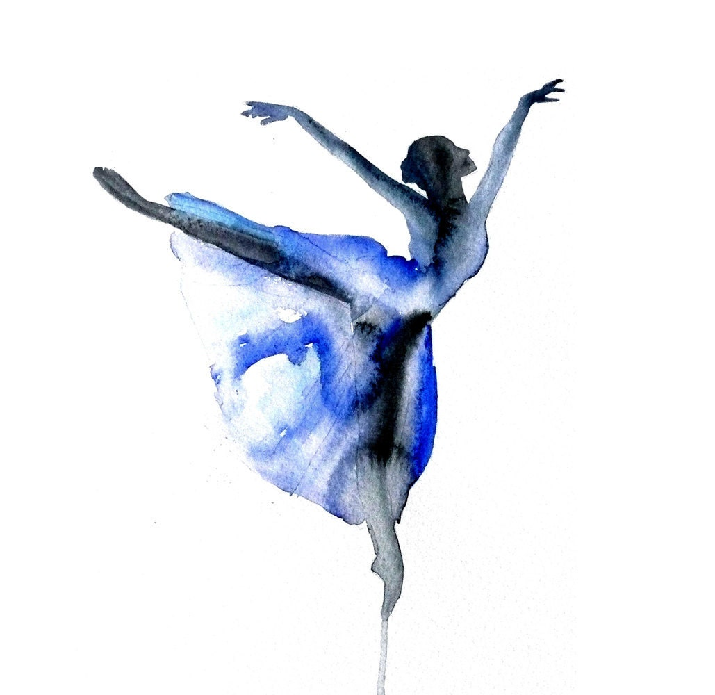Gallery For gt Ballet Dancer Watercolor Painting