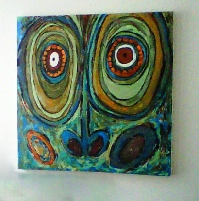 "African Art, Museum Inspired Painting 24X24"" Gallery Wrapped Canvas"