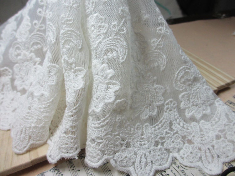 Bridal Lace Fabric BY The Yard Off  White Lace Fabric Wholesale Lace Fabric S116 - bloominglace