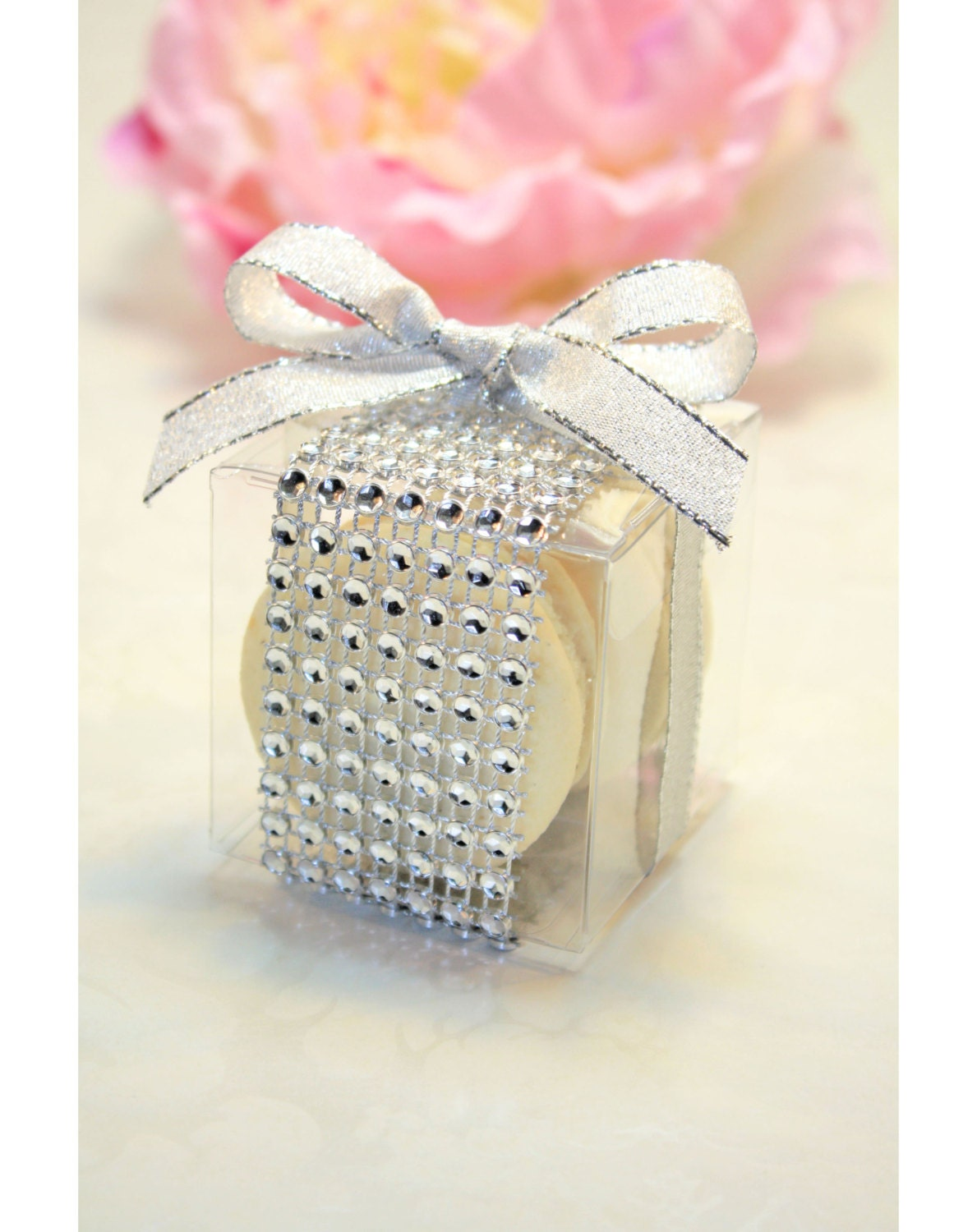 Wedding Favor Boxes For Macarons : Wedding Favors, French Macaron, Favor BoxesSet of 30 Rhinestone box ...