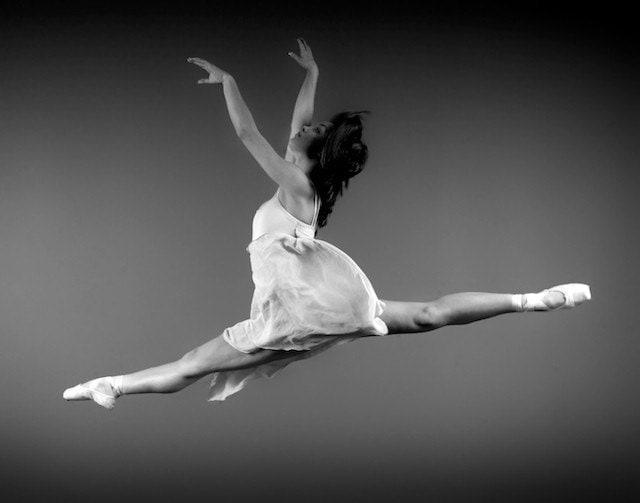 Dancer Flying Leap, 11x14 Photo - ElizabethZusev