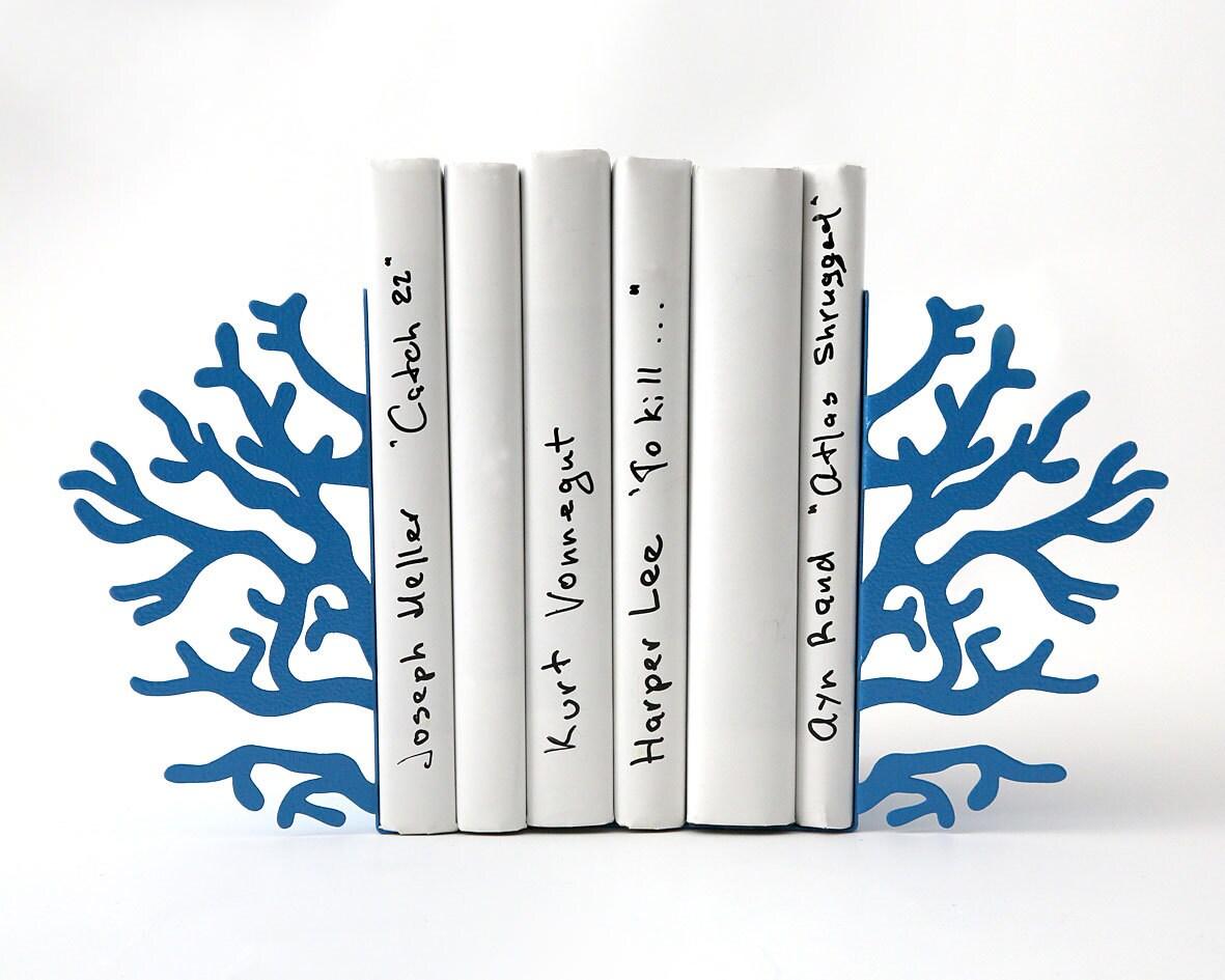 Bookends -Corals Blue edition- unique, stylish and useful decor bookends - DesignAtelierArticle