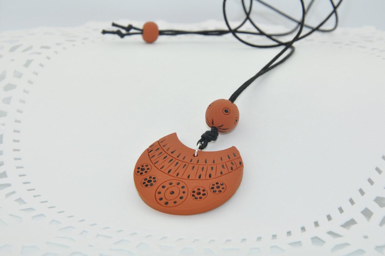 Polymer jewelry, Terracotta necklace, Jewelry, Handmade jewelry, Polymer necklace, Terracotta jewelry - CraftStocks