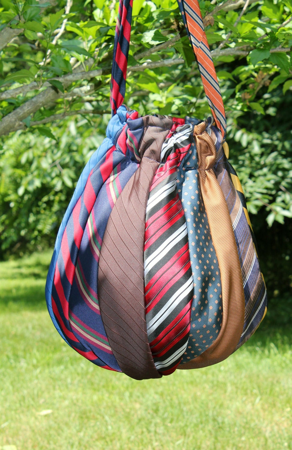 The sassy sewer necktie hobo bag recycled finished for Craft projects for men