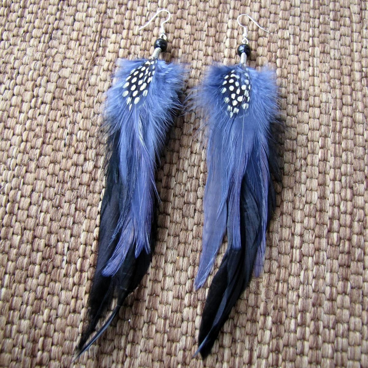 BLACK FRIDAY SALE Gypsy Wings - Feather Earrings