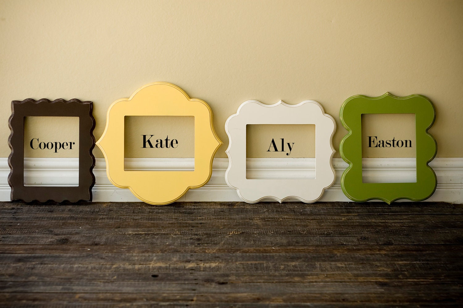 5x7 whimsical and unique picture frames. Pick your style and color