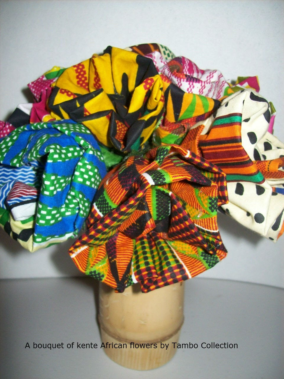 African Fabric Flowers Kente Fabric Flowers By Tambocollection