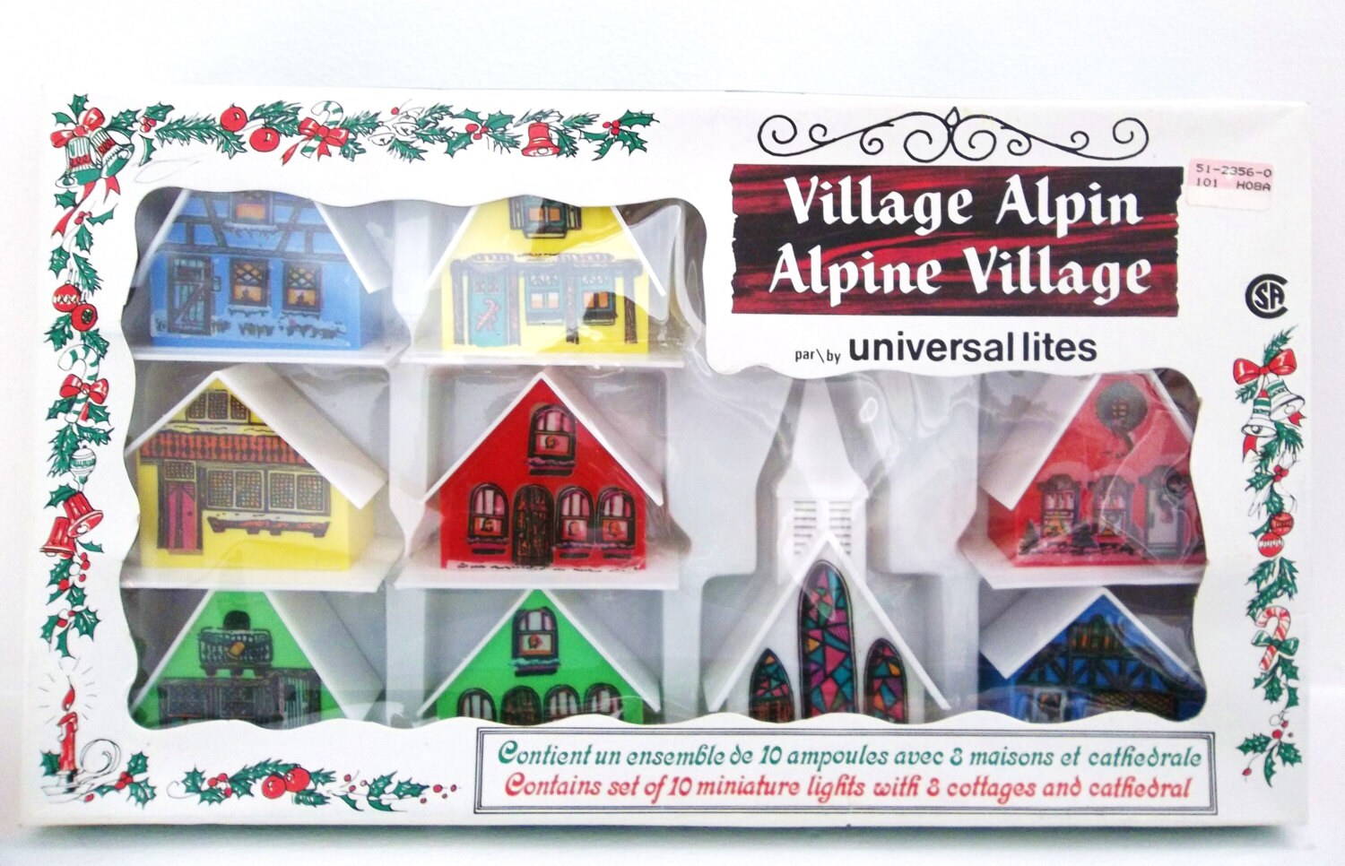 Vintage Alpine Village Miniature Light Cover Set by PopCulturelle