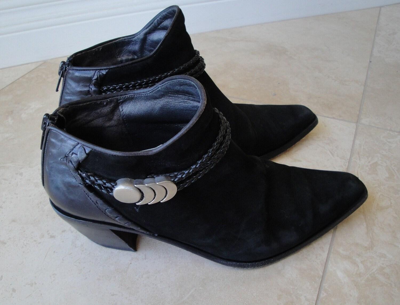 vintage via spiga black suede ankle boot by vintagepatriotgirl