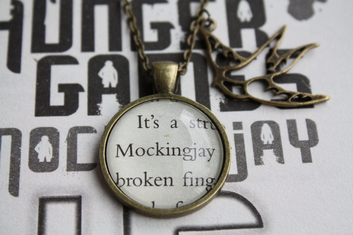Blue green orange 10 things i love hunger games tribute hunger games mockingjay quote necklace aloadofball Images