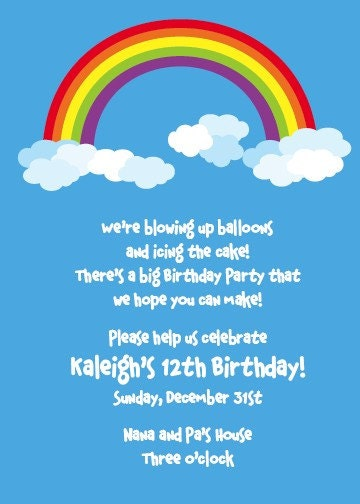 Rainbow Party Invitations Party Inspiration Board