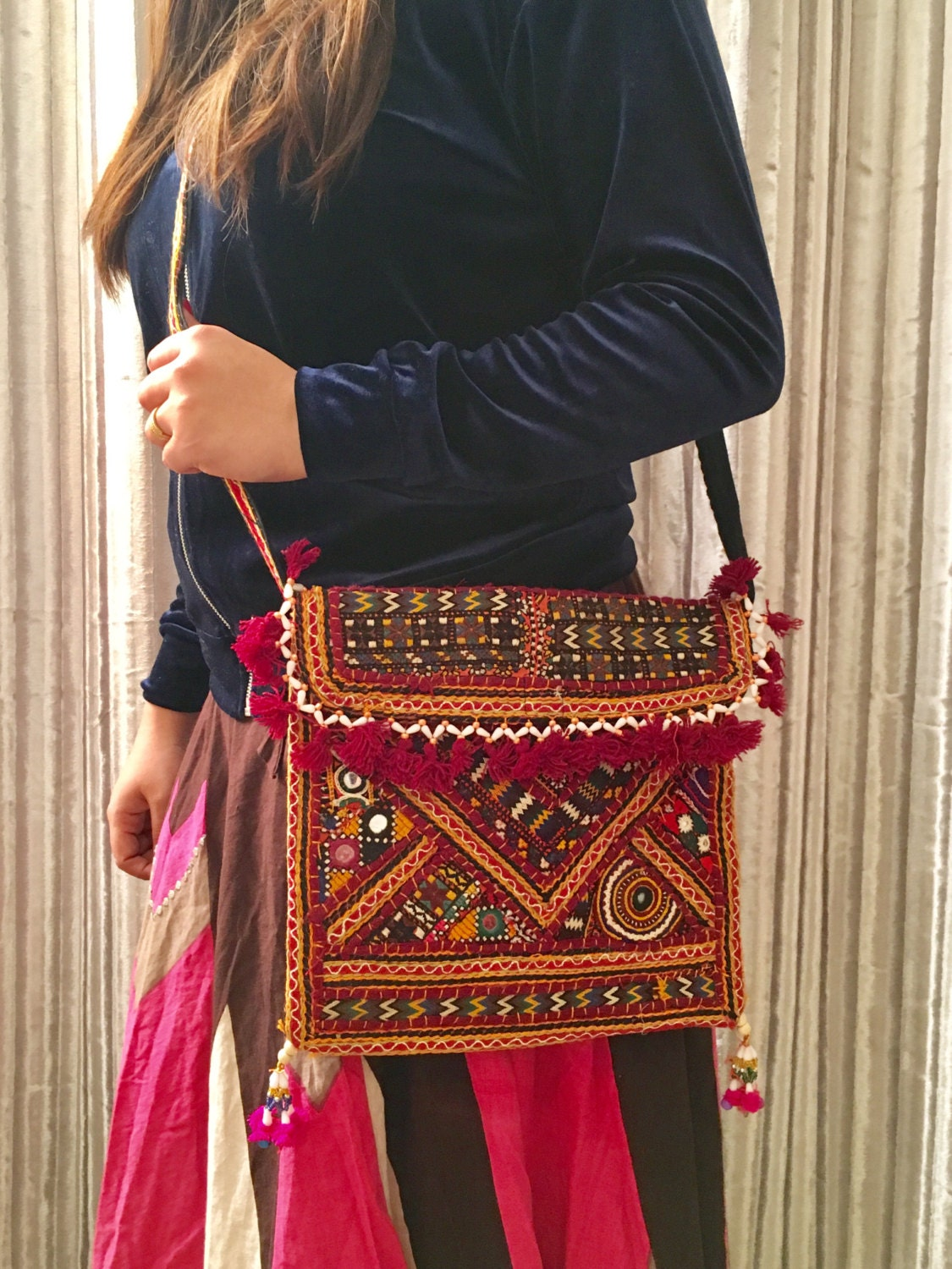 Shoulder Bag Boho bag Hippie Bag Vintage Purse Party Purse Luxe Purse Sling bag Mirror work Tribal bag Gift Idea Antique Bag