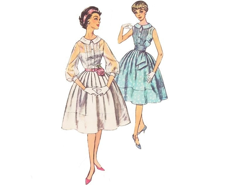 Where can I find a free dress pattern online? A 1950s style dress
