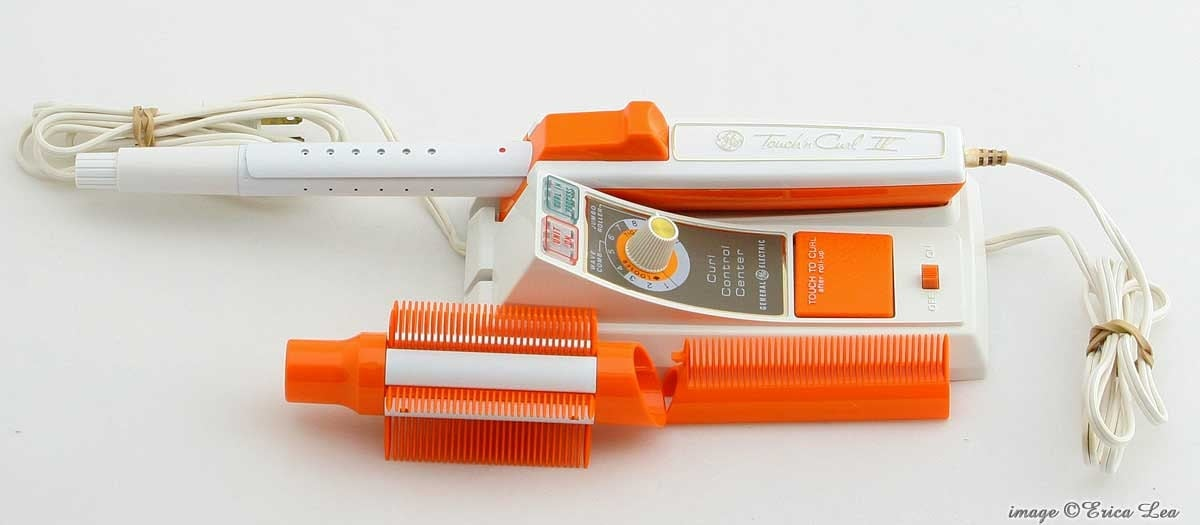 American Made Steam Iron ~ Vintage curling iron ge touch n curl steam mist by