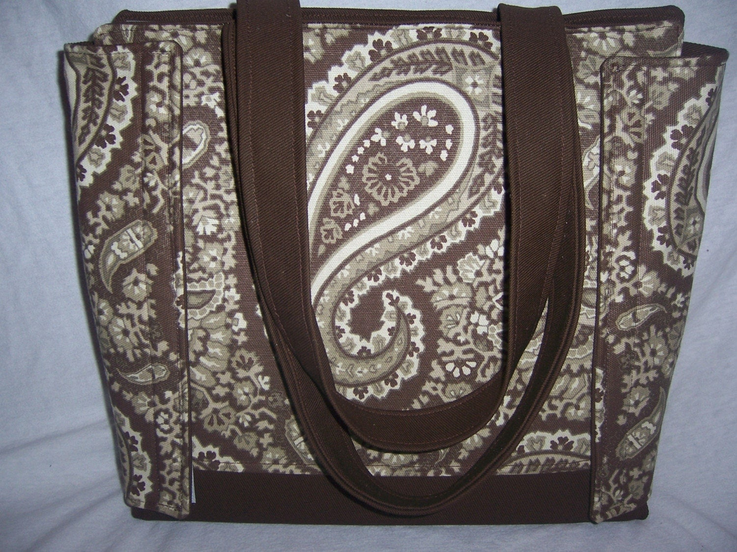 Stylin' Binder Bag, Brown Paisley