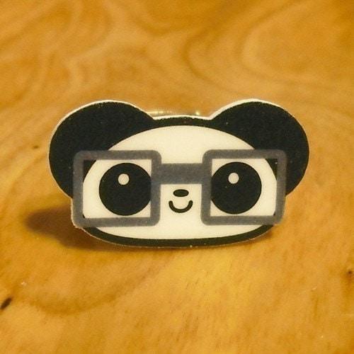 Little Nerdy Panda Ring