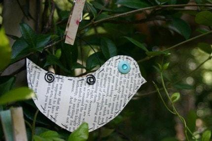 Paper Bird Ornament