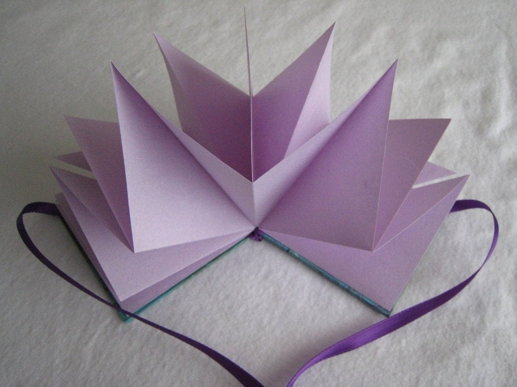 Hand Marbled Purple Star Book