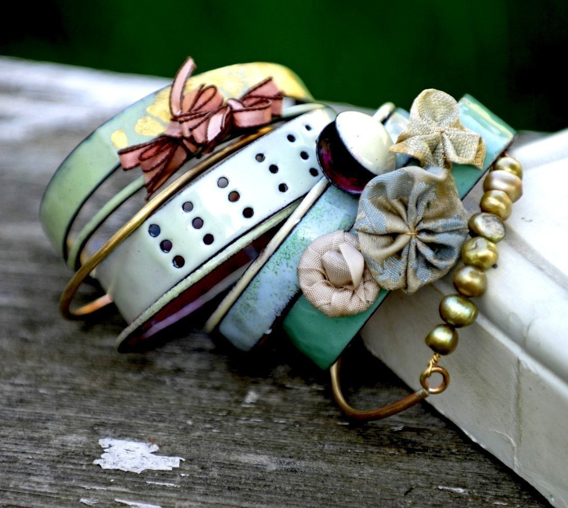 Golightly - 9-Piece Enameled Bangle Set