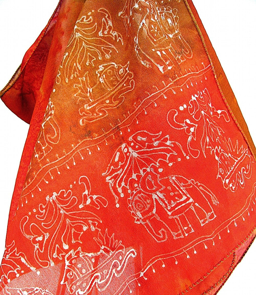 7f53e03ff66 KavitaKriti - Indian luxury silk scarves. Hand painted. Hand Dyed. Handmade.