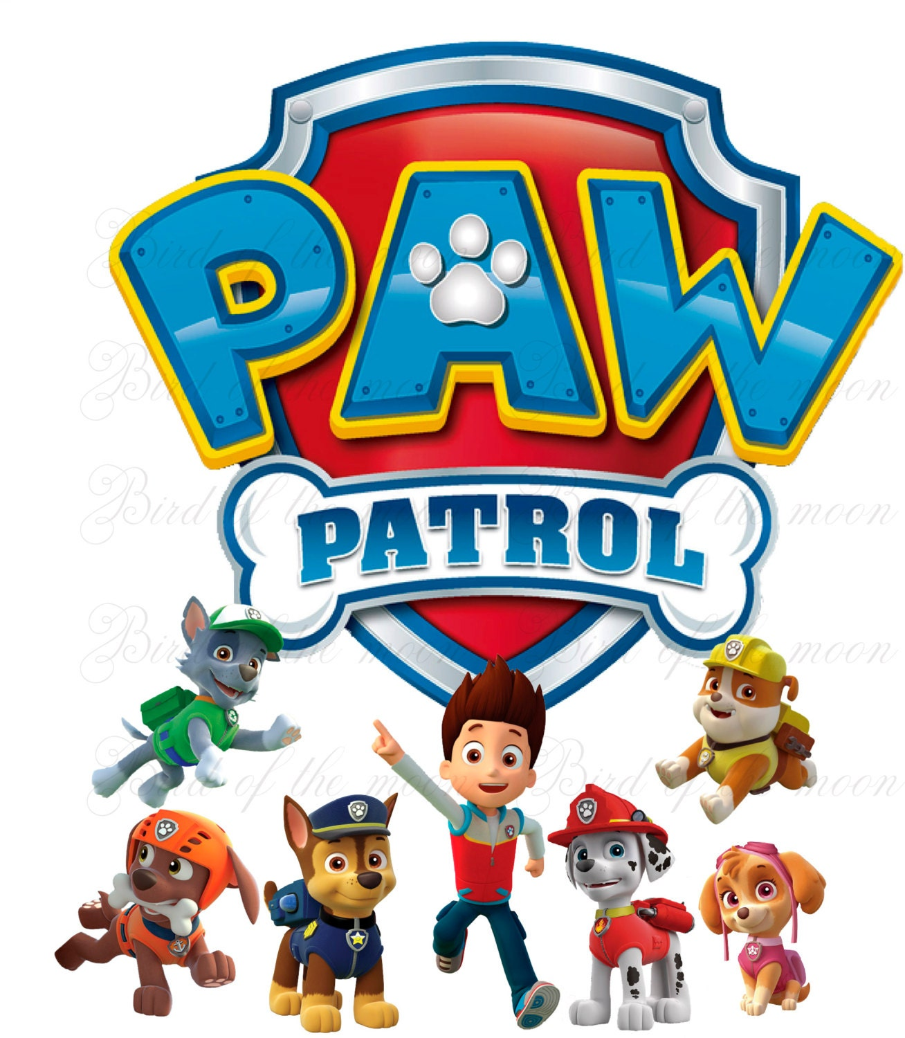 Hilaire image with paw patrol printable