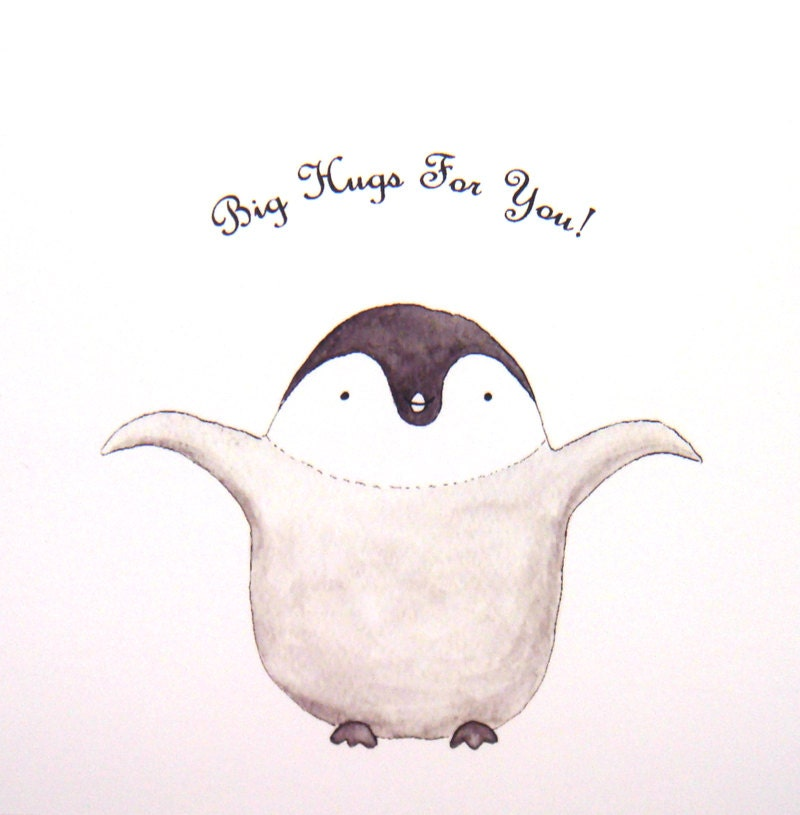Baby penguin art - photo#26