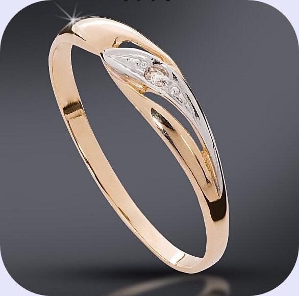 Diamond Engagement Anniversary Ring Made to Order White or WhiteYellow 1x Brilliant  0025ct HSI
