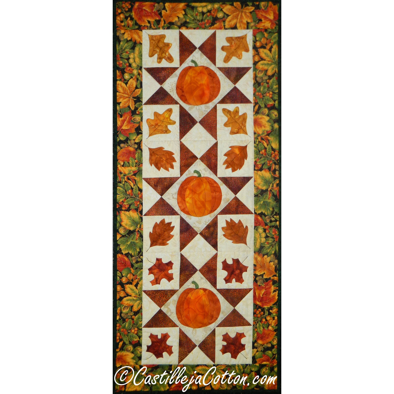 On Sale Starry Autumn Table Runner or Wall Hanging - castillejacotton