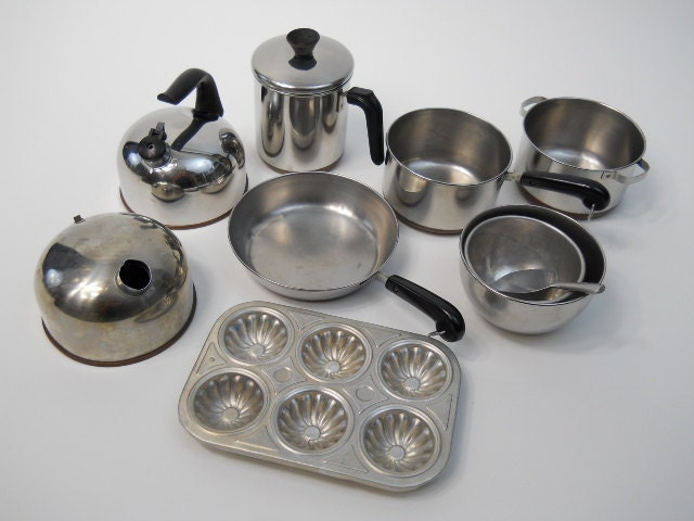 Vintage Revereware Toy Pots And Pans Revere By
