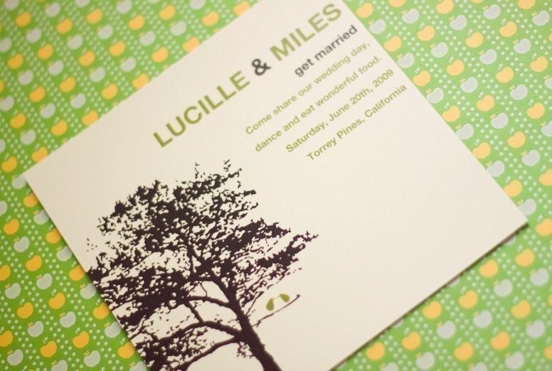 Two Birds One Tree -  Wedding Invitation