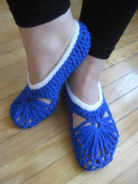 دمپایی آبی خانمها متوسط اندازه