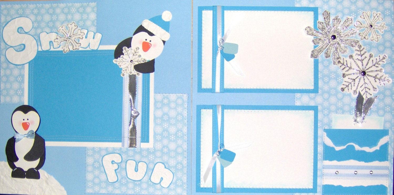Snow Fun 2 12x12 SEWN Premade layout