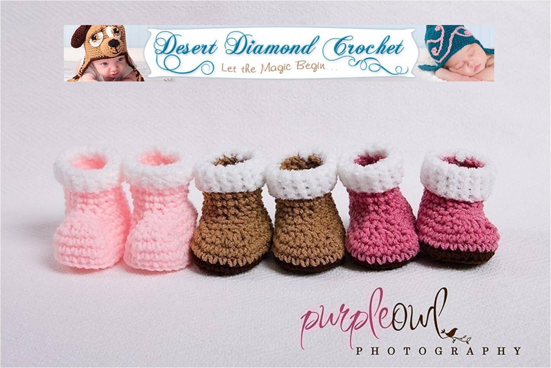 Crocheted Baby Booties  Socks
