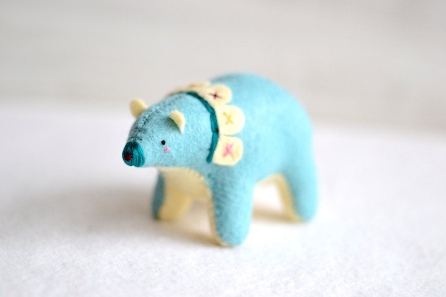 bunting bear - spirit bear - soft sculpture animal