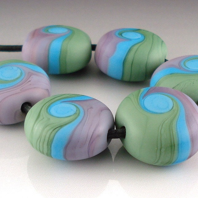 Etched Pastel Button Beads