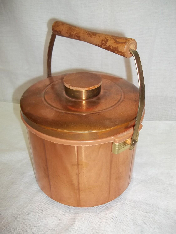 vintage copper barware ice bucket by spartan utensil by