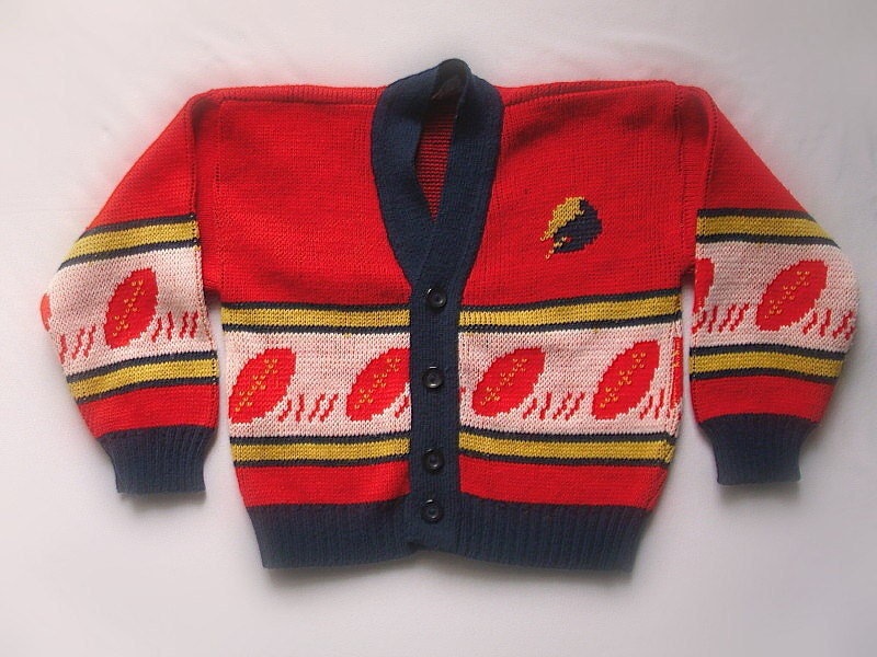Childs Ugly Vintage Sweater- Grandma's Crappy Gift  For Lil Johnny - TackyTimeBomb