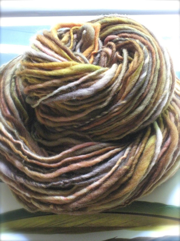 SPICED - handspun and handpainted pure merino yarn by pancake and lulu