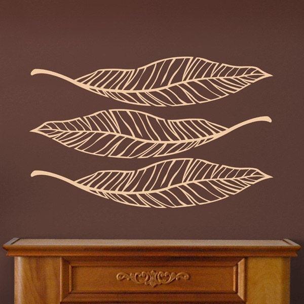 Three Large Leaves  Vinyl Decals