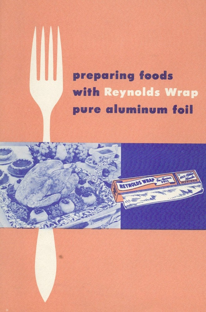Retro 1950s OUTDOOR COOKING WITH REYNOLDS WRAP Recipes Tips - Vintage Cookbook - Advertising Ephemera
