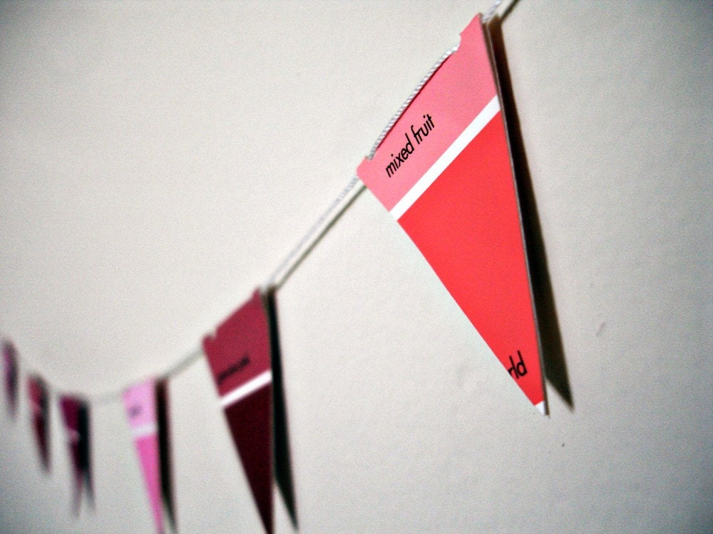 Paint Chips bunting