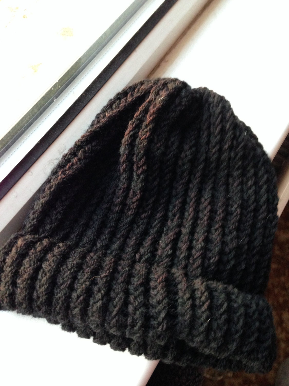 Little Black Hat Black Beanie Hat Black Knitted Hat Black Skull Cap Handmade Knit Hat Cuffed Beanie Hat Beanie for Men Unisex Beanie