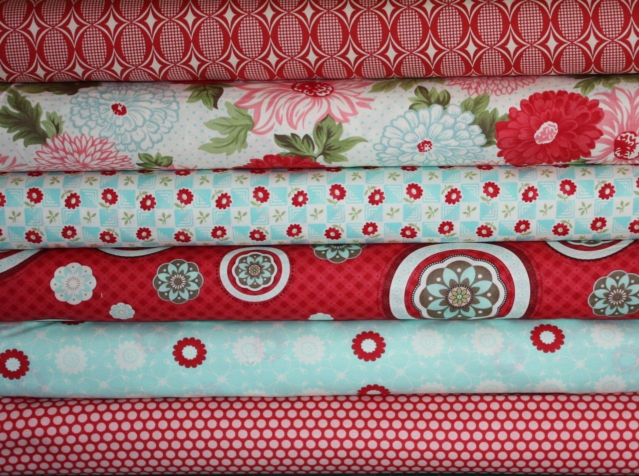 Bliss Fabric by Bonnie and Camille for Moda- Fat Quarter Bundle, 6 total