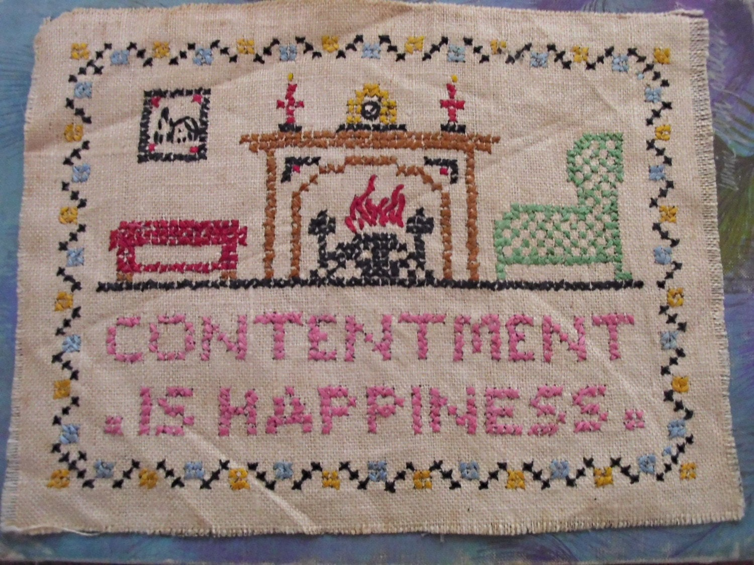 Lovely Vintage  Embroidery Sampler