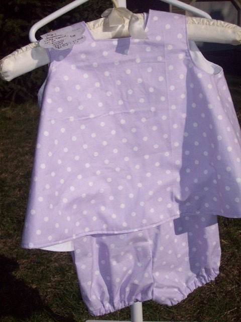 Pinafore with Bubble suit and bonnet size 2