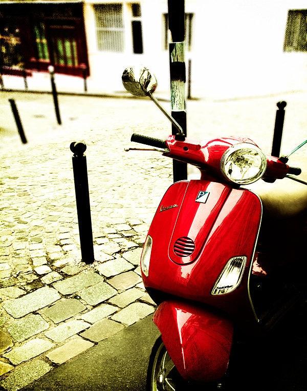 Париж Фотография-Vespa Арт-Home Decor-Париж Wall Art-Париж Франция, Стены Декор, Vespa Фотография, 8x10-Ride